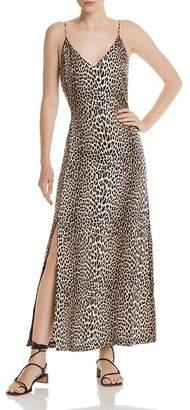 Notes du Nord Marin Silk Stretch Leopard-Print Maxi Dress