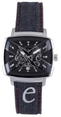Exte Women's EX.4008M-12 calfskin band watch.