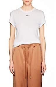 Off-White Women's Fern-Print Jersey T-Shirt-White