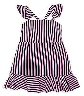 Milly Striped Ruffle Detail Dress