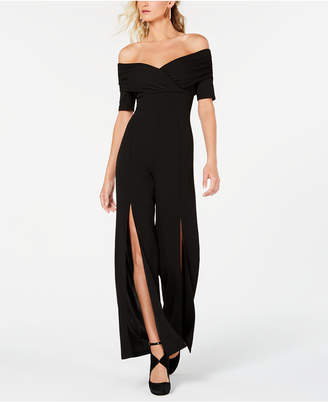 GUESS Juda Off-The-Shoulder Split-Leg Jumpsuit