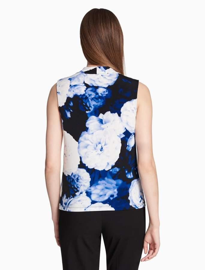 8ce3e0eb4fef2 Calvin Klein floral knot neck cami top detail image