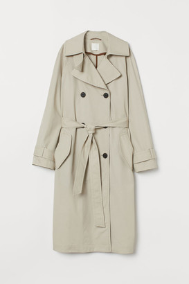 H&M Cotton Trenchcoat - Beige