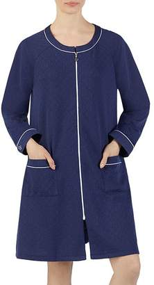 Eileen West Short Matelasse Zip Robe