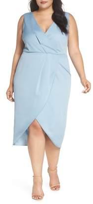 Cooper St Florence Drape Sheath Dress (Plus Size)