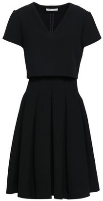 Maje Rozane Layered Pleated Stretch-Crepe Dress