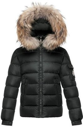 Moncler Byron Hooded Short Down Parka, Black, Size 8-14 $745 thestylecure.com
