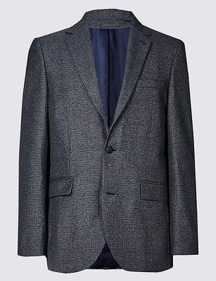 Marks and Spencer Textured Tailored Fit Jacket