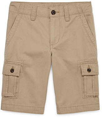 Arizona Solid Cargo Shorts Boys 4-20, Slim & Husky