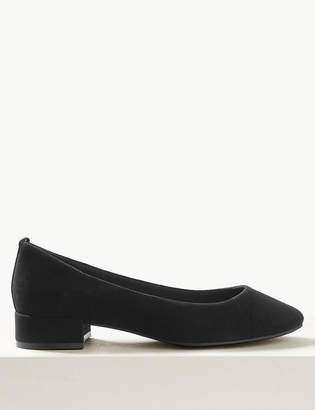 Marks and Spencer Suede Round Toe Court Shoes