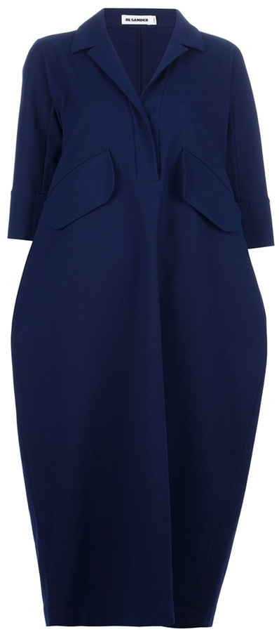Jil Sander voluminous shirt dress