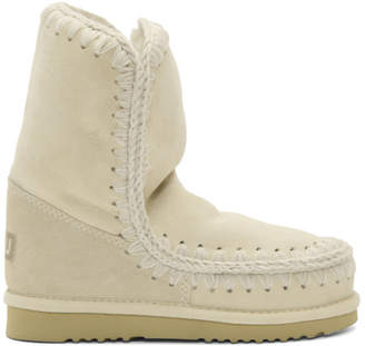 Mou White and Grey Eskimo 24 Boots