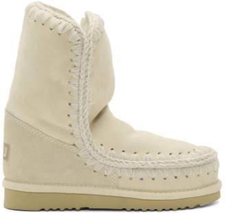 Mou White and Grey Eskimo 24 Boots
