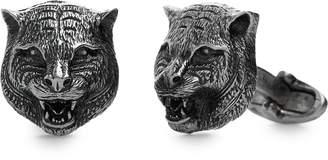 Gucci Feline Heads Cuff Links