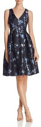 Eliza J Floral Jacquard Dress