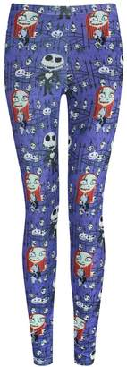 Disney Official Nightmare Before Christmas Jack And Sally Leggings (XXXL)