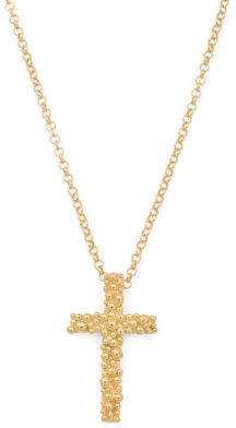 Made In Bali 18k Gold Plated Sterling Silver Cross Necklace