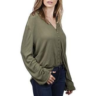 Lucky Brand Women's Textured Button up Shirt