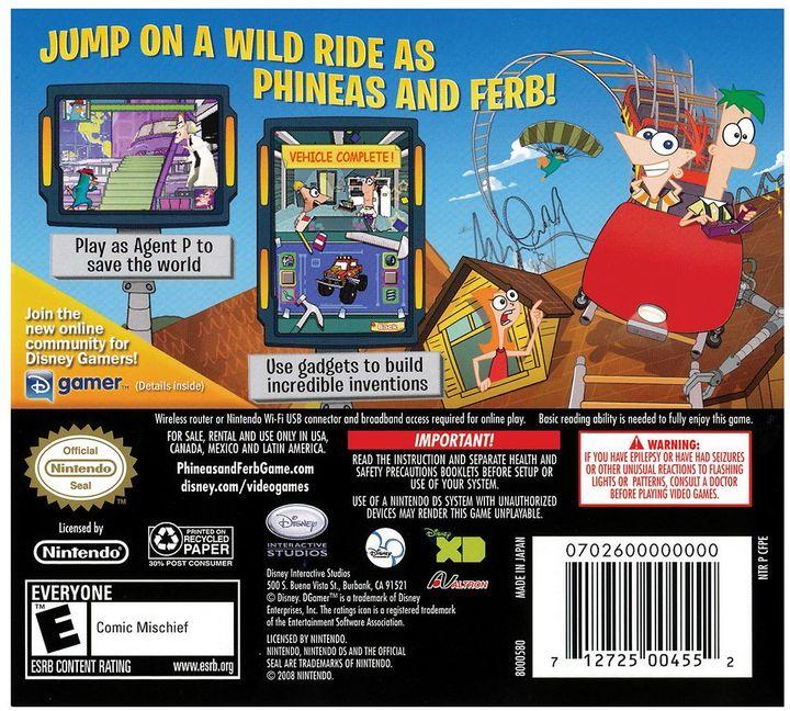 Nintendo DS™ Phineas & Ferb®