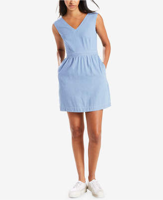 Levi's Joelle Back-Tie Twill Dress