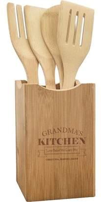 Monogramonline Grandma\'s Kitchen Custom Wooden Utensils And Holder Set