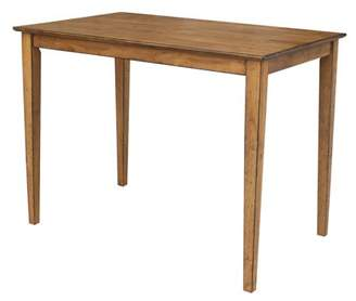 """INC International Concepts 30"""" x 48"""" Solid Wood Counter Height Table in Pecan"""