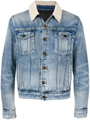 Saint Laurent contrast collar denim jacket