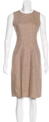 Oscar de la Renta Sleeveless Slit-Accented Dress