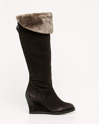 Le Château Leather Over-the-Knee Wedge Boot