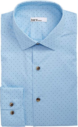 Bar III Men's Classic/Regular Fit Stretch Polka Dot Dress Shirt
