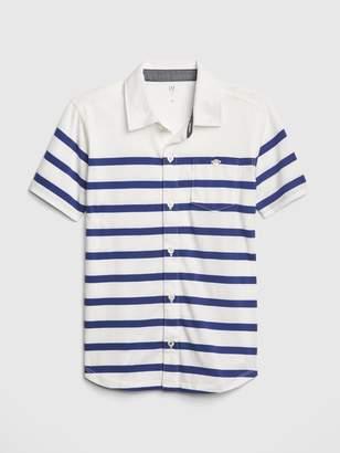 Gap Kids Stripe Knit Short Sleeve Shirt