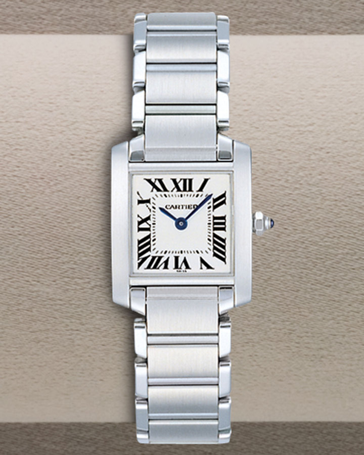 Cartier Small Tank Francaise Steel Watch