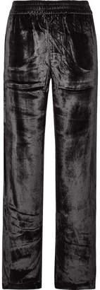 J Brand Ardon Velvet Wide-leg Pants - Black