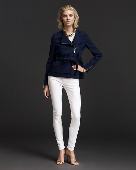 Sylvie Long Sleeve Collarless Jacket
