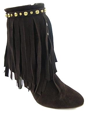 Jeffrey Campbell - Women's Brown Suede Crank Boot