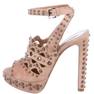 Alaia Suede Studded Sandals
