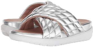 FitFlop Loosh Luxetm Cross Slide Leather Sandals Women's Shoes