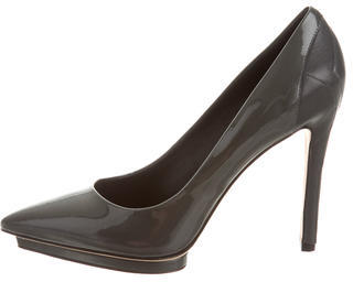 B Brian Atwood Patent Leather Pointed-Toe Pumps $130 thestylecure.com
