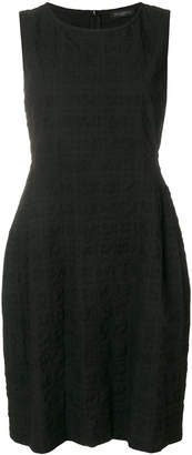 Antonelli classic fitted seersucker little black dress