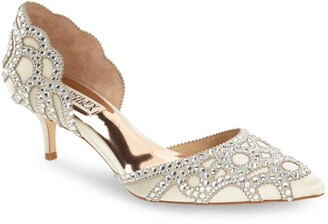 Badgley Mischka Collection 'Ginny' Embellished d'Orsay Pump