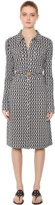Tory Burch T Printed Viscose & Silk Shirt Dress
