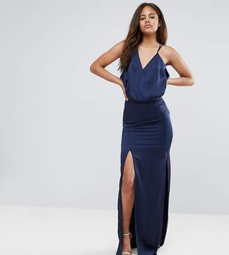 Asos Tall TALL Drape Front Strappy Back Maxi Dress