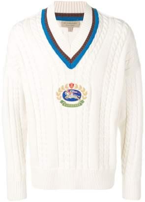 Burberry Cashmere Cotton Cricket Sweater