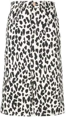 See by Chloe animal print midi skirt