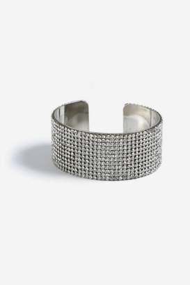 Topshop Silver Rhinestone Cuff