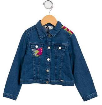 Junior Gaultier Girls' Denim Embroidered Jacket w/ Tags