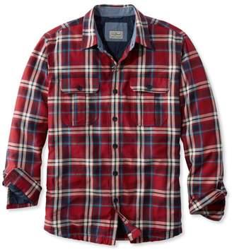 L.L. Bean L.L.Bean PrimaLoft-Lined Shirt-Jac, Slightly Fitted Plaid