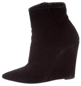 Barbara Bui Suede Wedge Boots