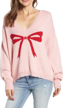 Wildfox Couture Clement Intarsia Bow Sweater