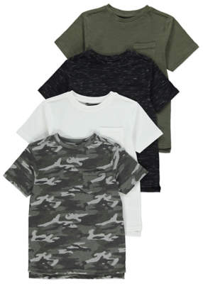 George Camo T-Shirts 4 Pack
